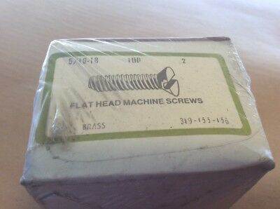 (100)  VINTAGE  5/16 -18 x 2 Flat  Head Slotted Machine Screw,  NOS