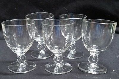 """5 Heisey Oyster / Fruit Cocktail Goblets - Lariat Heavy Pressed - 4"""""""