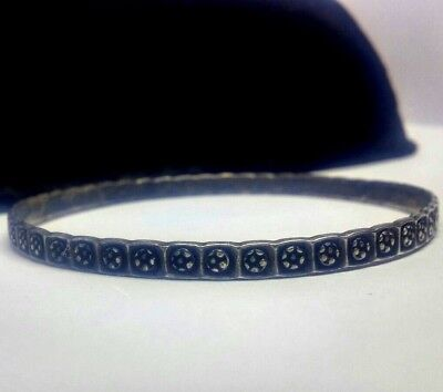 Rare Antique Arts and Crafts Bangle by Charles Horner Hallmarked Chester 1897