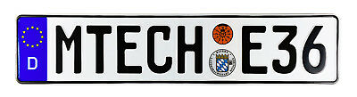 MTECH E36 BMW German License Plate