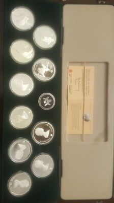 Royal Canadian Mint 1988 Calgary Olympics 10 OZ Silver Commemorative Coin Set