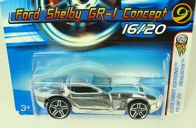 Hot Wheels Ford Shelby GR-1 Concept 2005 First Editions  #016   Combine Shipping