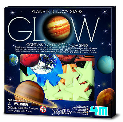 Kids Glow In The Dark Stickers Bedroom Ceiling Decor Planets Stars Sticker Decal