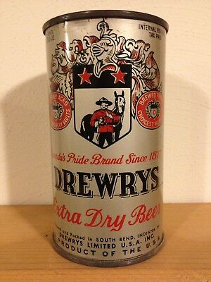 Drewrys Extra Dry Beer, IRTP Flat Top Beer Can, Drewrys Limited South Bend IN