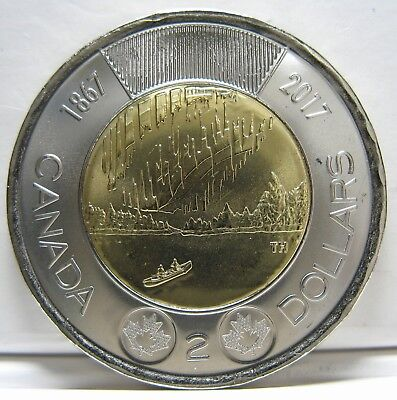 2017 - $2 - 150th Anniv. of Canada - No Coloured - BU - ( From a new roll )