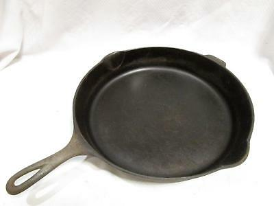 Vintage WAGNER WARE #12 Large CAST IRON SKILLET Sidney O Double Pour