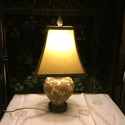 1930s CONSOLIDATED PHOENIX  LAMP WITH SHADE.AND FINIAL