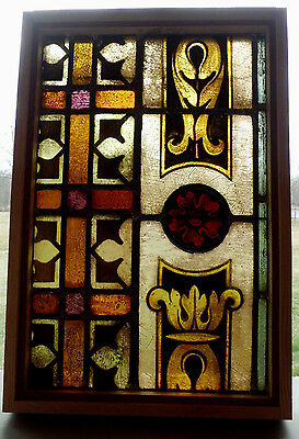 Antique Church Stained Glass Window Architectural Salvage German Mayer 1924 A7
