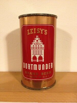 Leisy's Dortmunder Flat Top Beer Can, Leisy's Brewing Co. Chicago IL