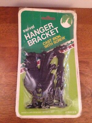 Cast Iron Swivel Hanger Bracket Rooster Vintage With Package
