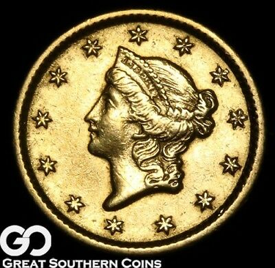 1853-O Gold Dollar, $1 Gold Liberty, Type 1, Choice BU++ ** Free Shipping!