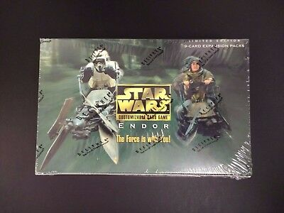 NEW Star Wars CCG Endor Limited Edition Booster Box Decipher, SEALED, Very RARE