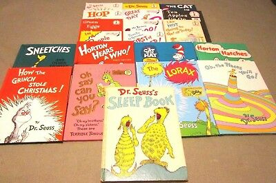20 Dr. Seuss Bright And Early Hb Picture Book Lot  Sneetches  Horton Sleep Lorax