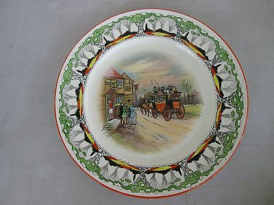 """Vintage Grimwades Old English Coaching Scenes 9"""" Plate Stagecoach"""