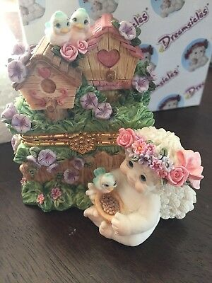 Dreamsicles Morning Glory Birdhouse trinket box 1998 cast art angel Figurine new