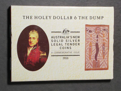 AUSTRALIA 1988 The Holey Dollar & The Dump 2 pc. Silver Proof Set in Holder