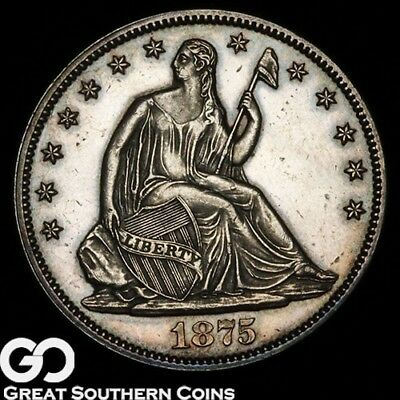 1875 Seated Liberty Half Dollar PROOF, Just 700 PR Issued ** Free Shipping!