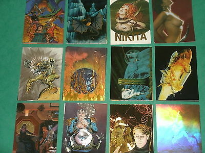 Fantasy Art Trading Cards (A) Rare Chase Cards:Chromium,Prismatic,Metalic,Foil