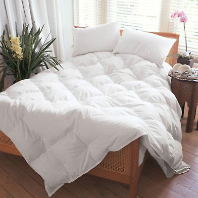 All Season Combi Warm Goose Feather & Down Duvet Quilt 13.5 Tog All Sizes White