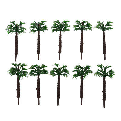 10pcs 2 Inch Model Palm Trees Layout Train Scale 1/400 J5O6