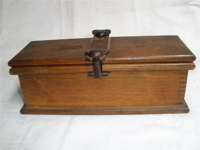 Retro Vintage Wooden Tie Storage Box Tie Press A.w.gamage Ltd.holborn Ec1