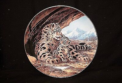 The Snow Leopard Collector Plate 1989 The Endangered Species by W.S George 5739C