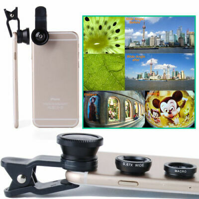 3 in1 Fish Eye+Wide Angle+Macro Camera Clip-on Lens for iPhone 6/ Plus/ 5S/ 5 AT