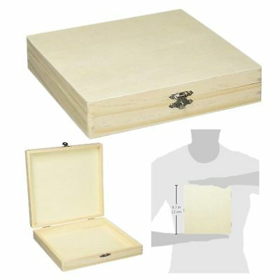 Wood Cigar Box Unfinished Wooden Boxes Sanded Smooth Pine Woods Cigars Storage