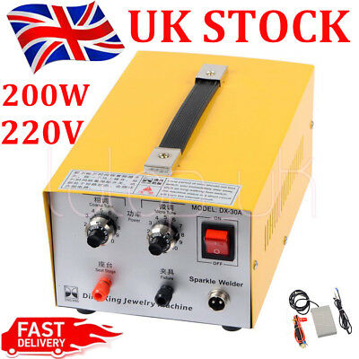 220V Pulse Sparkle Spot Welder 200W Jewelry Welding Machine Necklace Gold Silver