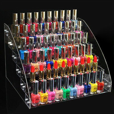 2-7 Tier Acrylic Makeup Oil Nail Lipstick Cosmetic Display Stand Organizer Rack