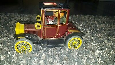 Vintage Tin Litho Battery Operated Car