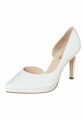 Högl Bridal Occasion High Heel Patent Leather Shoes White Size 6 £125