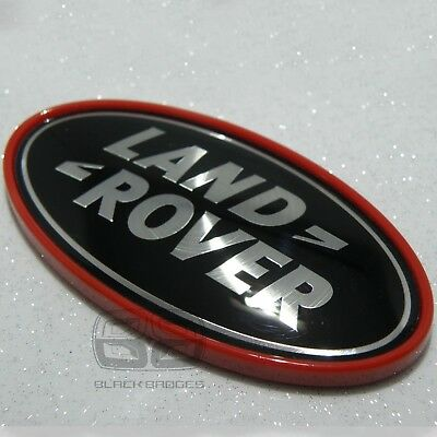 Red And Black Supercharged Rear Back Badge Fits Range Rover Sport Vogue