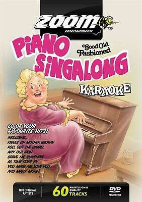 Zoom Karaoke Piano Singalong Music Hall Oldies DVD - 60 tracks on 2 DVDs