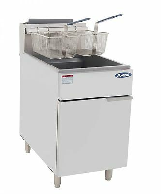 """New 75 Lbs Fryer 21"""" Wide 2 Lrg Baskets Commercial Restaurant  Natural Or Lp Gas"""