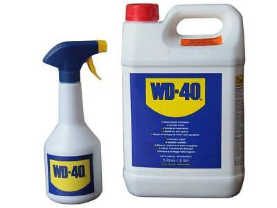 Wd40 5 Ltr Litre Multi Use Can + Spray Applicator  - New Rdgtools