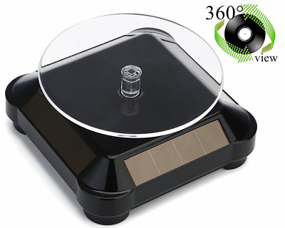 Solar Display Stand Turntable ,Battery Double Used Rotating Stand for Jewelry Wa