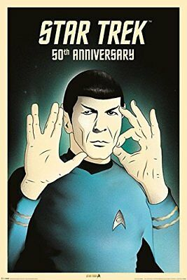 STAR TREK - SPOCK - 50TH ANNIVERSARY POSTER - 24x36 - ORIGINAL TV SERIES 2974