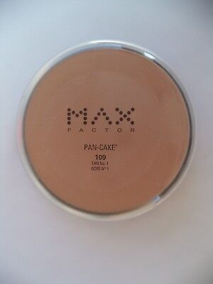 Max Factor Pan-Cake 109 Tan #1 Authentic US FULL SIZE + Gift with Purchase of 2