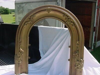 Antique Arch Cast Iron  Victorian Gothic Fire Place Surround Very Ornate