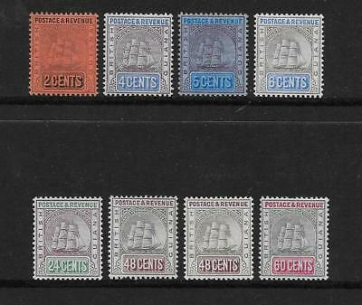 British Guiana  Sel.of Mounted Mint From 1905/7 Wmk Mult Crown Ca Set