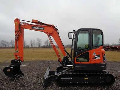 2017 Doosan DX63-3 excavator, Cab/Heat/Air, 3rd&4th valve aux hydraulics, 5hrs