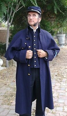 U.S. Civil War Union Army Long Cape Coat Authentic Repro Quartermaster 48/46R
