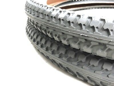 Cheng Shin Gray 24 x 2.125 Wheelchair Street Tire NYLON Pair