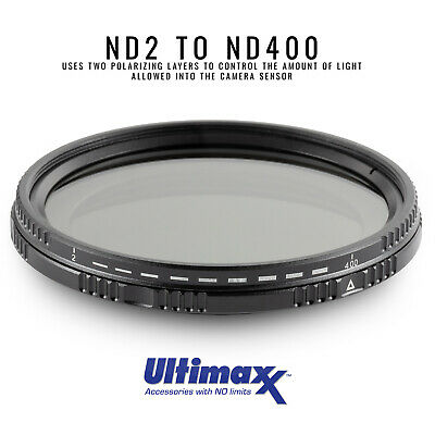 ULTIMAXX 46mm Variable Neutral Density Filter ND2-ND400 BRAND NEW