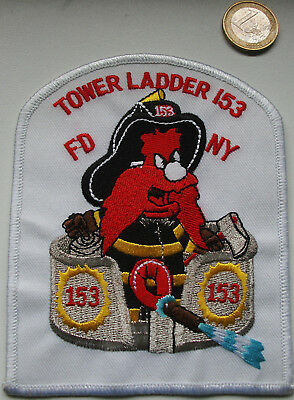 Feuerwehr USA - FDNY - originales Wachwappen TOWER LADDER-153,Patch