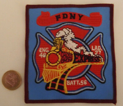 Feuerwehr- USA - FIRE DEPARTMENT NEW YORK - original Wachwappen,Aufnäher,Patch