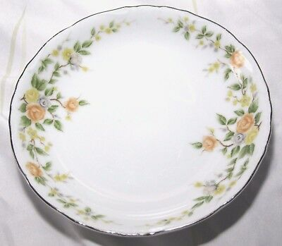 "Wildwood Fine China Coupe Fruit Soup Bowl 3107 roses gilded edge 7 1/2"" diameter"