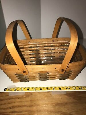 Longaberger basket, liner, handles, 1992, very good condition