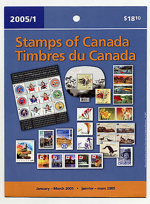Weeda Canada 2005 January-March Quarterly Pack, sealed! Face value $18.10